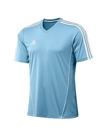 5938b1f6966c Amazon.com: adidas Kid's Estro 12 Soccer Jersey (Clear Blue): Sports ...