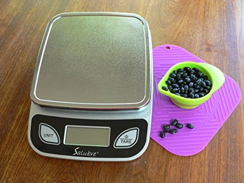 Digital Food Scale / Kitchen Scale / Postal Scale – Weigh in Pounds, Ounces, Grams - Precise Weight Scale 1g (0.04oz) to 11 lbs - Batteries Included by REM Concepts (Image #7)