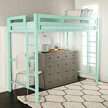 we furniture premium twin metal loft bed mint - Loft Bed Frame