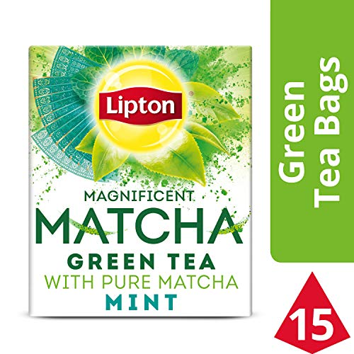Lipton Magnificent Matcha Green Tea Bags, Mint 15 ct (Pack of 4)