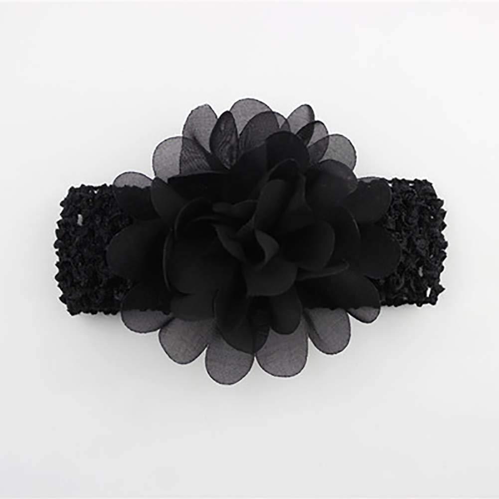 LYAmber Baby Girls Headbands Chiffon Flower Hair Accessories Lace Band Newborn Headwear