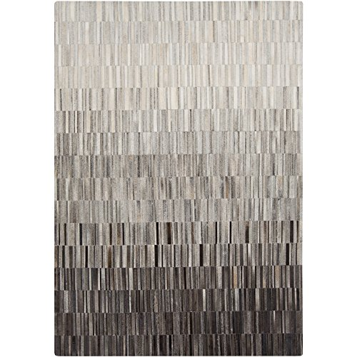 Surya OUT1010-23 Hand Crafted Casual Accent Rug, 2-Feet by 3-Feet, Light Gray/Taupe/Black
