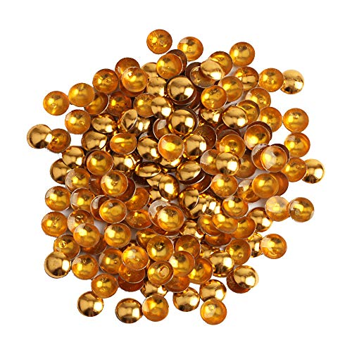 Beadsland Dome Studs Hotfix in Size 5mm,1/3 Round Flat Back Dome Studs with 500pcs(Gold)