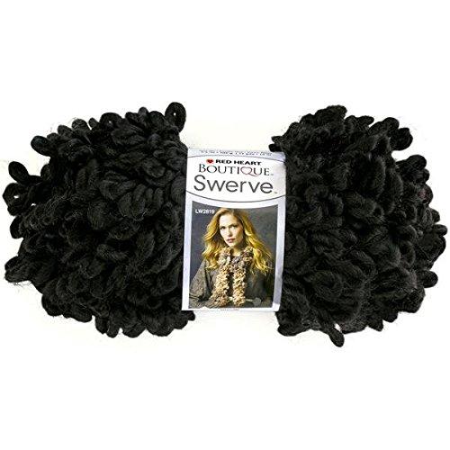 Coats Yarn Red Heart Boutique Swerve Yarn, Black Hole
