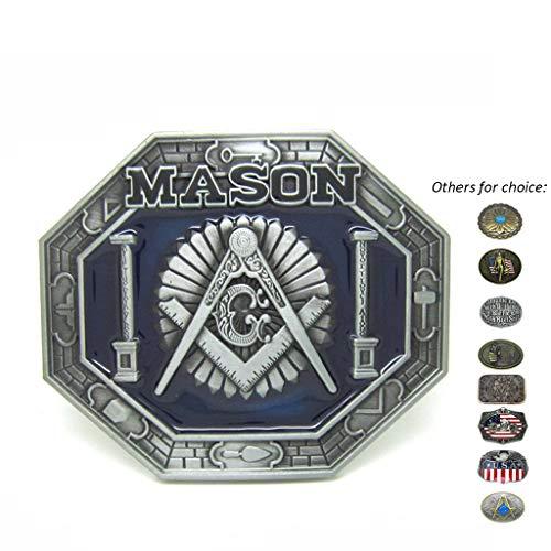 Compasses Freemason Mason Belt Buckles Symbols Masonic Buckles for Belts for Men Womens