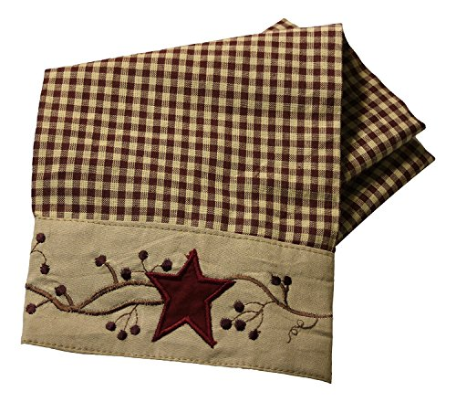 Stars And Berries Border Country Towel (Dish Country Towel)