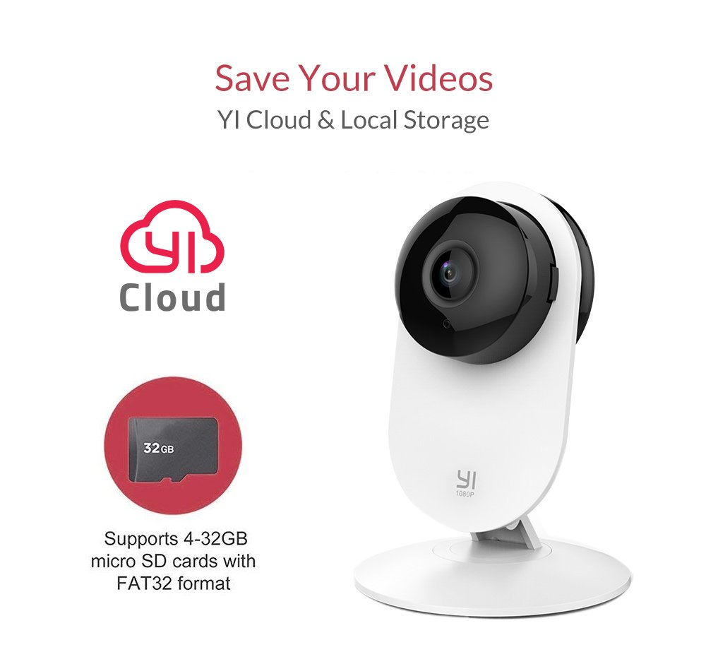 YI 1080p Home Camera, Indoor 2.4G IP Security Surveillance System with 24/7 Emergency Response, Night Vision for Home/Office/Baby/Nanny/Pet Monitor with iOS, Android App - Cloud Service Available by YI