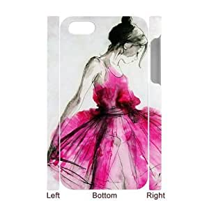 ALICASE Diy 3D Protection Hard Case Watercolor For Iphone 4/4s [Pattern-4]