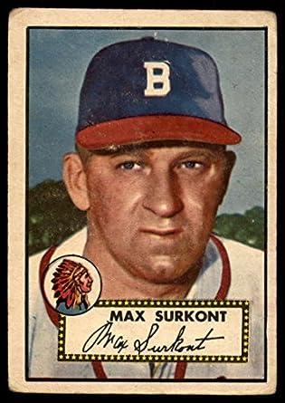 Amazoncom Baseball Mlb 1952 Topps 302 Max Surkont Vg Very Good Rc