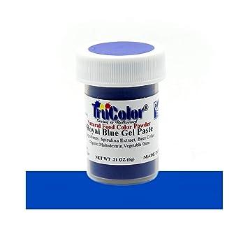 TruColor Royal Blue Natural Gel Paste Powder Food Coloring, 6 Grams