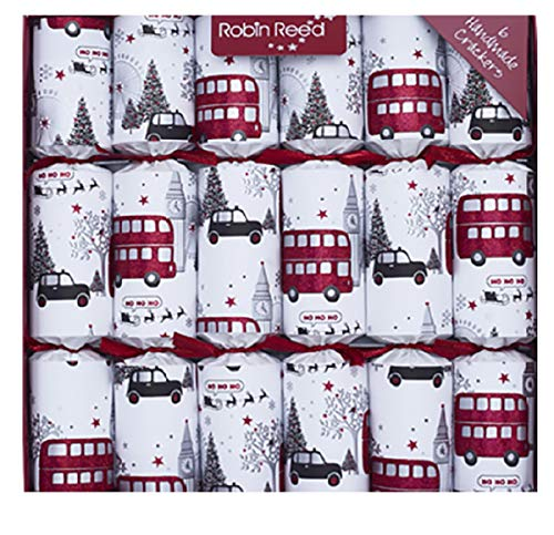 R&R Holiday 6pc 12in Themed Crackers - London Christmas Sights (Christmas Crackers Themed)