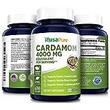 Cardamom Extract 4000mg 200 Vegetarian Capsules