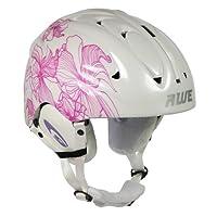 AWE® Dames adultes Ski casque jet blanc/rose, taille 56-58cm