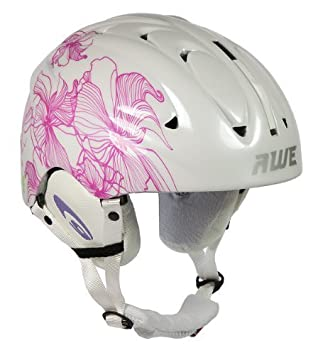 AWE® Casco de esquí para Damas adultas blanco/rosa, tamaño: 56-