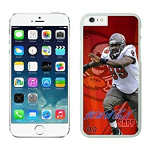 Tampa Bay Buccaneers Warren Sapp Case Cover For Apple Iphone 4/4S NFL Cases White NIC13430