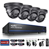 [New 1080P] SANNCE 4CH 1080P CCTV DVR System and (4) HD 1920x1080 Outdoor Fixed Security Cameras with Weather-Proof Body, 2.0 Mega-Pixels, P2P Technology,Day/Night Vision-NO HDD