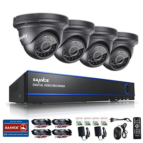Sannce-8CH-DVR1080P-Security-Camera-System-with-4-800TVL-Superior-Night-Vision-IR-Cut-Leds-Outdoor-CCTV-Camera-Full-960HHDMIVGABNC-Output-Weatherproof-Housing-PC-Easy-Remote-Access-No-HDD