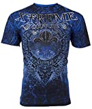 Affliction  Xtreme Couture Mens T-Shirt Honorable Wings Tattoo Biker UFC (Large)