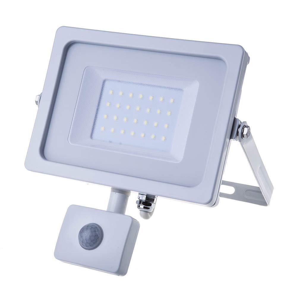 Proyector LED 30 W a detector Fin vt-4833 blanco blanco blanco neutro (4500 K): Amazon.es: Iluminación