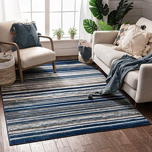 Well Woven Signature Stripes Modern Area Rug
