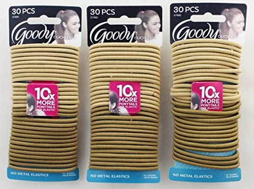 Goody Blonde Thick Hair Elastics 30 Count Pack Of 3