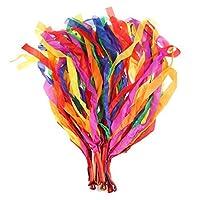 NUOLUX Dance Ribbon Rainbow Rhythm Ribbon Set for Kids - Pack of 12
