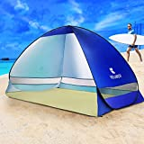 BATTOP Pop Up Beach Tent Camping Sun Shelter Outdoor Automatic Cabana 2-3 Person Fishing Anti UV Beach Tent Beach Shelter, Sets up in Seconds 78.7