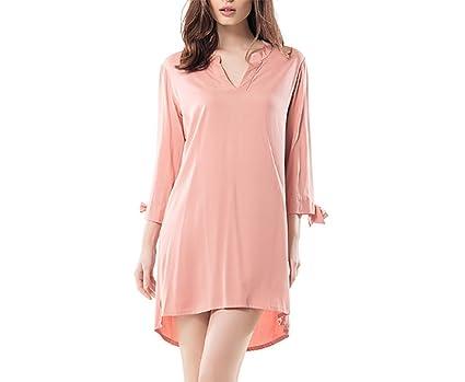 ZXMXY Pijamas de verano de las señoras camisón de algodón de las señoras pijamas lindos flojos