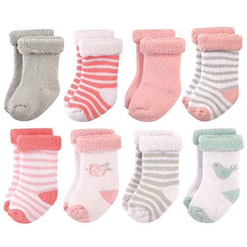 hudson-baby-basic-socks-8-pack-bird-rose-0-6-months