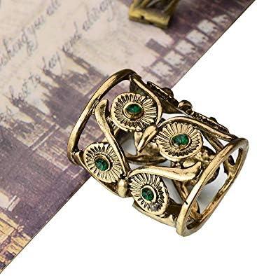 2pcs Vintage Owl Scarf Ring Slide Buckle Holder Clip Antique Silver//Bronze