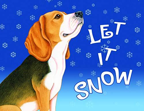 Beagle Fleece - Best of Breed Beagle Let It Snow Fleece Blanket