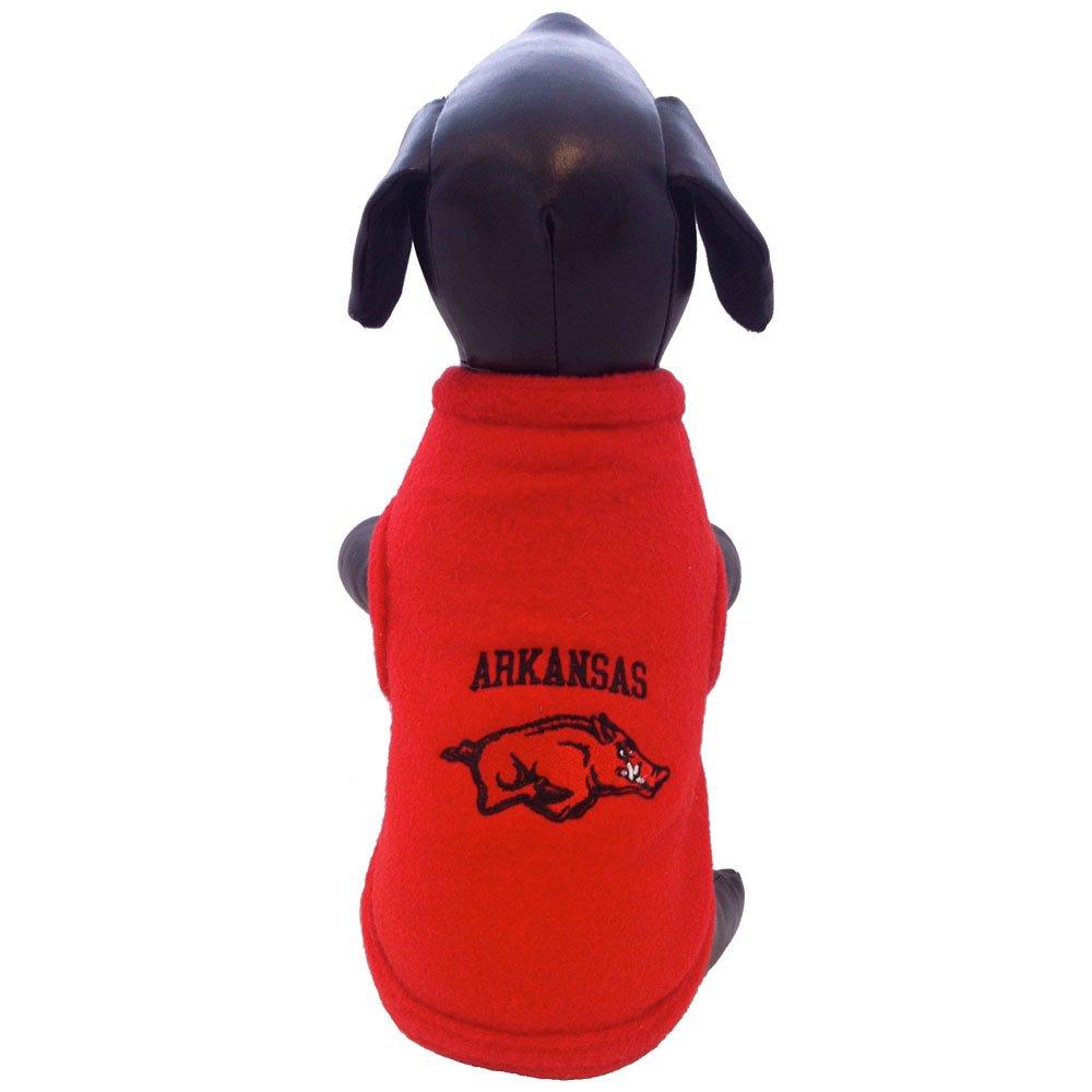 Medium All Star Dogs Arkansas Razorbacks Polar Fleece Dog Sweatshirt, Medium