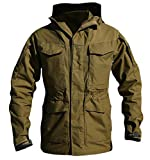 Cruiize Men's Casual Military Mid-Leather Outwear Windproof Jacket