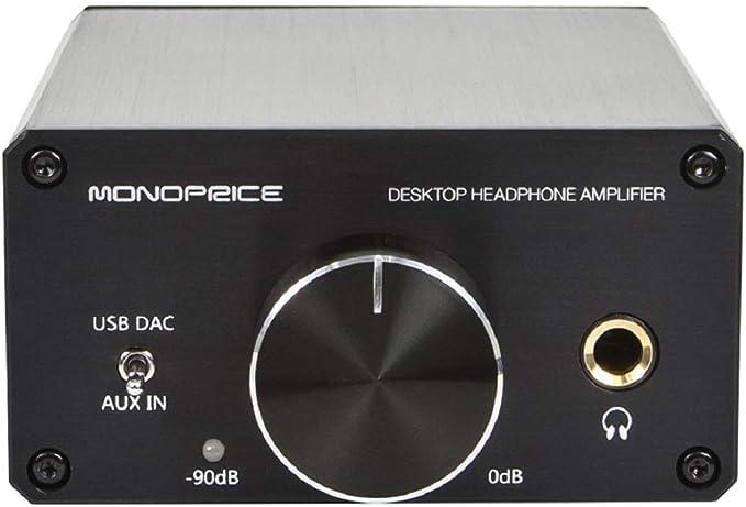 Black Color : Black Xinnexinnengyuanww Desktop high-impedance Headphone Amplifier
