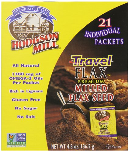 Hodgson Mill Travel Milled Flax Seed, 21 Count, 4.8 Oz, (Pack of 6)