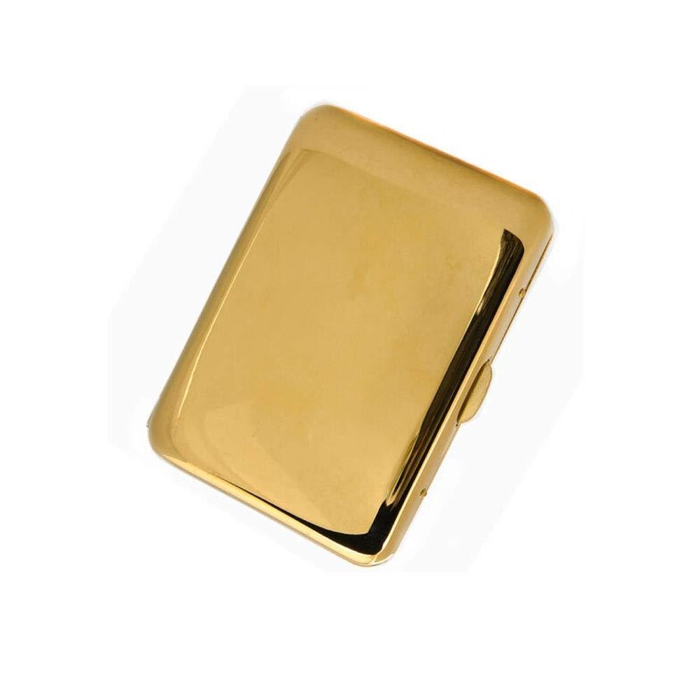 KALMAR Cigarette Case, Gold Mirror 16-Piece Copper Personalized Metal Cigarette Case, Men's Cigarette Case, Cigarette Box Cigar Protective Cover
