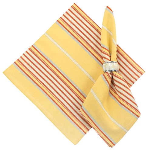 100% Cotton Red & Yellow Striped 22