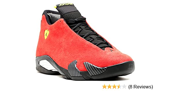 new style e9fc5 06d01 Amazon.com   Jordan Air 14 Retro Ferrari Men s Shoes Challenge Red Vibrant  Yellow Anthracite Black 654459-670   Basketball