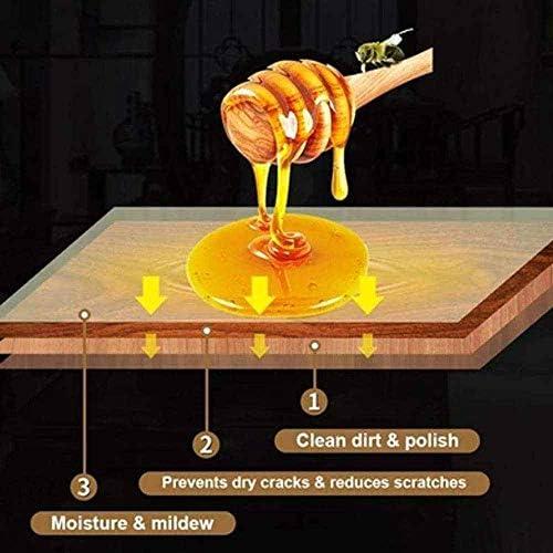 llsooesq Bienenwachs Möbelpolitur, Bienenwachs, Wachspolitur, lebensmittelecht, Holzbehandlung schützt und verbessert den Glanz für Möbelpflege