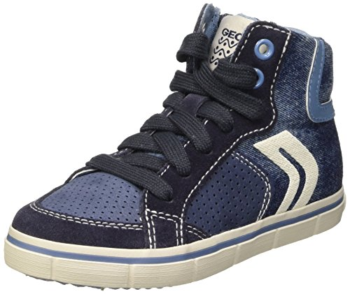 Geox Jr Kiwi Boy D - Zapatillas Niños Bleu (Lt Jeans/Navy)