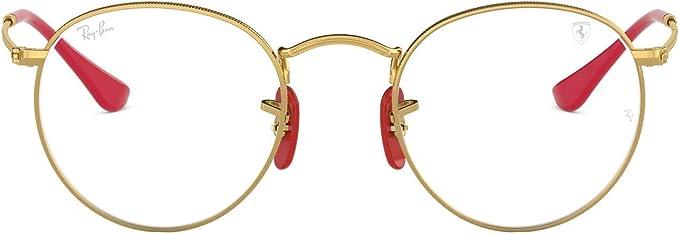 Amazon Com Ray Ban Rx3447vm Scuderia Ferrari Collection Round Prescription Eyewear Frames Arista Demo Lens 47mm Clothing
