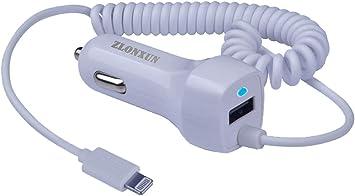 Cargador Coche USB con Cable para iPhone X/XS/XR/8/8 Plus/7/7 ...