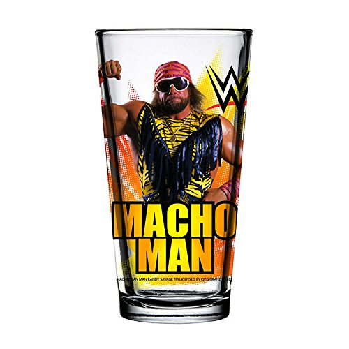Toon Tumblers WWE Randy Savage 16 oz. Pint Glass