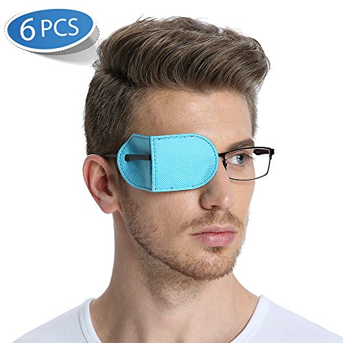 FCAROLYN 6pcs Eye Patch for Glasses to Treat Lazy Eye/Amblyopia / Strabismus,Blue from FCAROLYN