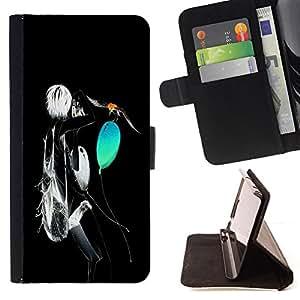 BullDog Case - FOR/Sony Xperia Z1 L39 / - / Neon Abstract /- Monedero de cuero de la PU Llevar cubierta de la caja con el ID Credit Card Slots Flip funda de cuer