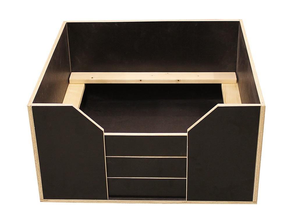 Easy-Hopper Wurfbox Komfort mit Welpenschutz 80x80cm