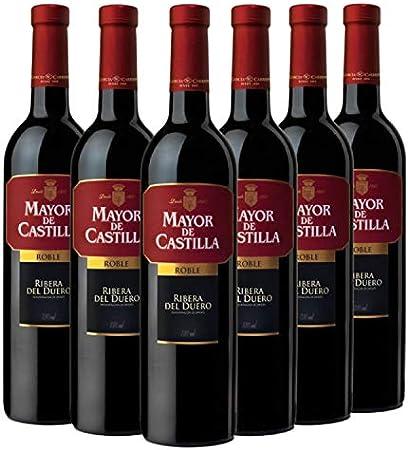 Mayor de Castilla Roble Vino Tinto D.O Ribera del Duero - Caja de 6 Botellas x 750 ml
