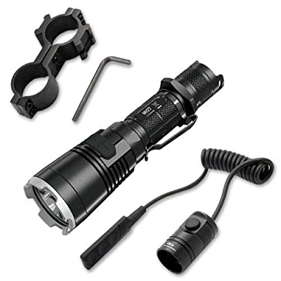 Bundle: Nitecore MH27 Rechargeable Flashlight w/ GM04 Gun Mount & RSW1 Pressure Switch