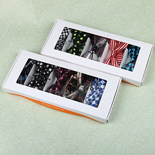 DBF0184 Excellent Bow Ties For Business Pre-tied Bow Ties - 5pc Luxury For Party By Dan Smith by Dan Smith (Image #2)