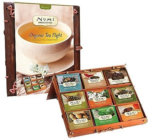 Numi Organic Tea, Organic Tea Flight Variety Gift Set in a Bamboo Tea Chest, 45 Count - Numi Black Organic Tea